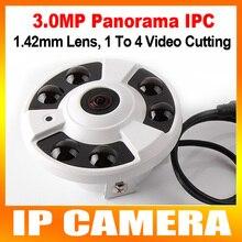 Lente de Seguridad CCTV 3 Megapíxeles de 360 Grados Fisheye 5MP IP Panorámica cámara Onvif 3MP 1 A 4 Video De Corte IR 20 M, Carcasa de Metal