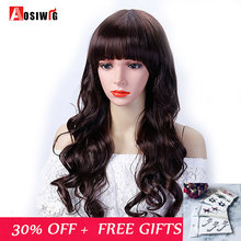 aosiwig Long Wavy Hair Female High Temperature Synthetic Halloween Costume Party Wig Cospaly Wig Hair Clip Extension Wig(China)