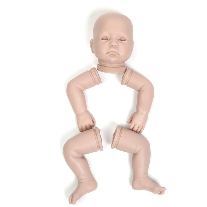 Reborn Baby Doll Kit Unpainted Parts Open Eyes Silicone Reborn Baby Doll Kits Suit for 22inch Reborn Doll Accessories цена