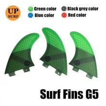 цены FCS FIN G5 Tri fin set FCS G5 M size Honeycomb Fibreglass Green Black Red Blue surfboard fin