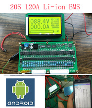 20 s 120a 스마트 보드 lipo 리튬 폴리머 bms/pcm/pcb 배터리 보호 보드 20 팩 18650 리튬 이온 배터리 셀 (ant bms)