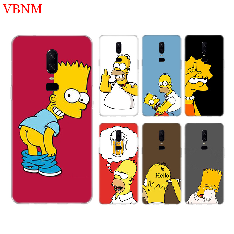 Funny Homer J Simpson Soft Silicome Phone Case For Oneplus 3 3T 5 5T 6 6T 7 Plus Gift Art Patterned Customized Cover Coque Cases