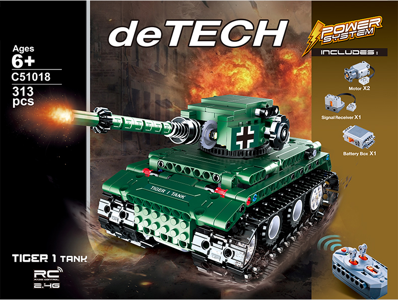 Technics modern military world war radio remote control tiger I tank building block model bricks rc toys collection for gifts hot modern military t92 tank moc building block model bricks toys collection for adult children gifts