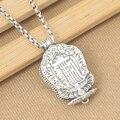 S925 sterling silver jewelry pendants men and women Tibetan OM Mani Padme Hum Pendant gau box Lotus Thai silver necklace pendant