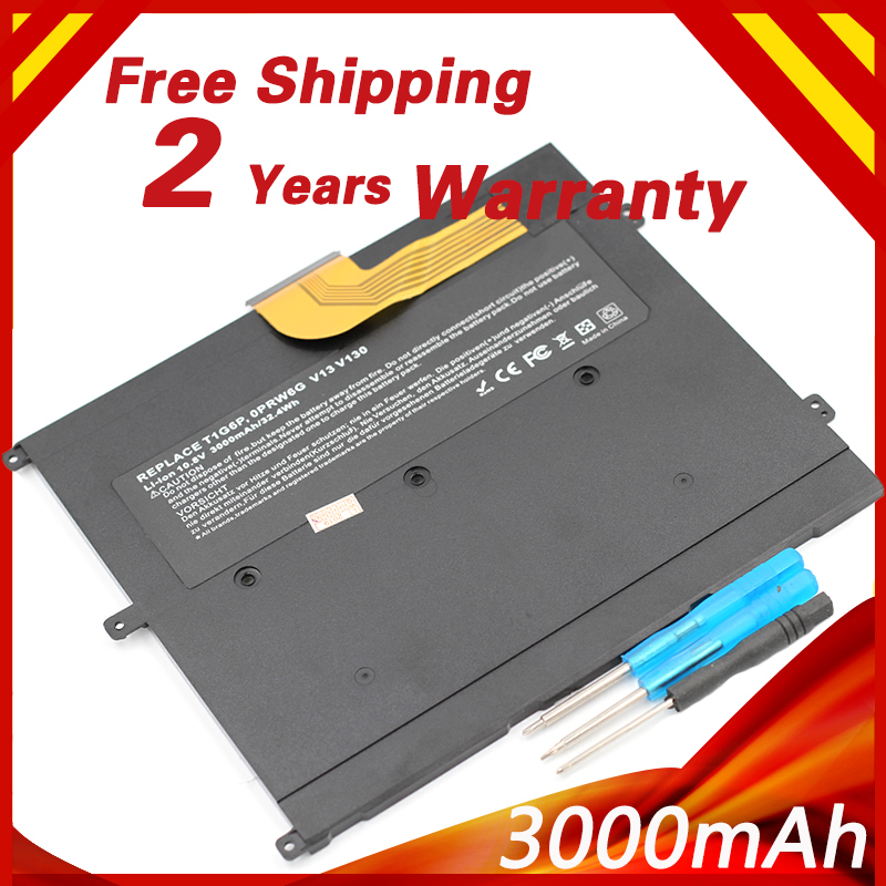 Golooloo 3000mAh Li-polymer Laptop Battery 0NTG4J 0PRW6G  For DELL Vostro V13  V13Z  V130 V1300 0449TX PRW6G T1G6P