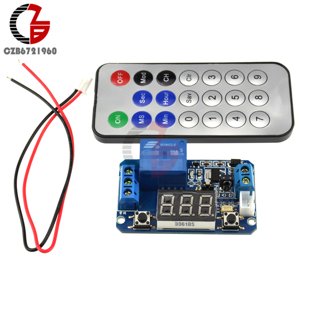Infrared Remote Control 5V Timer Delay Relay LED Tube Display Module For Arduino 5v 2 channel ir relay shield expansion board module for arduino with infrared remote controller