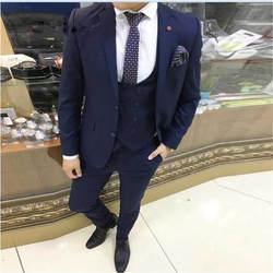 Новые модные бархатные мужской костюм фиолетовый комплект смокинг жениха Для мужчин s свадебные вечерние ужин костюмы куртка и штаны 3 шт