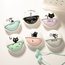 Free shipping in-ear earphone kitty cute cat colorful for mp3 mp4 music player with microphone storage box for kid girl gift(China)