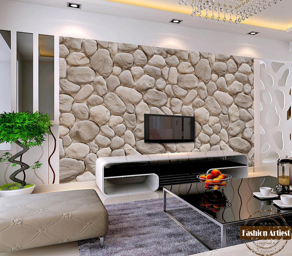 Custom Modern Fashion 3d Wallpaper Mural Wild Natural Rock Stone Wall Tv  Sofa Bedroom Living Room Cafe Restaurant Background In Wallpapers From Home  ... Part 80