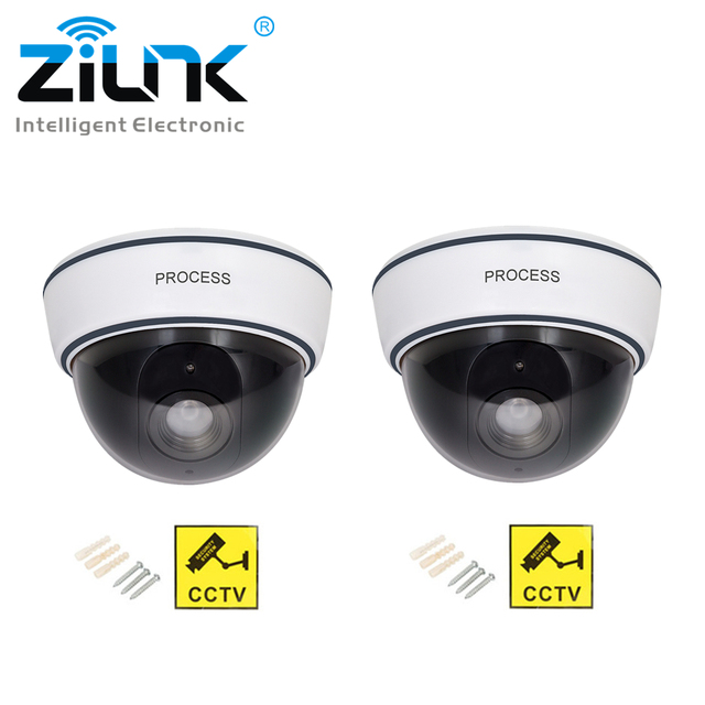 96697c518eb 2psc Fake Camera Dome Red Flashing LED Light Outdoor Indoor Dummy Camera  Simulation Waterproof Security Surveillance CCTV