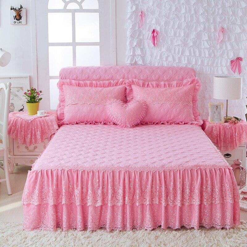 His Hers Kussensloop.Beste Koop Prinses Koreaanse Queen King Size Beddengoed Set Roze