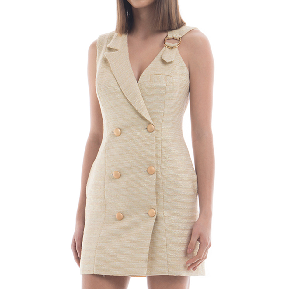 Adyce 2019 New Summer Women   Trench   Coats Casual Sleeveless Sexy Deep V-Neck Drouble Breasted Club Celebrity Party Coats Vestidos