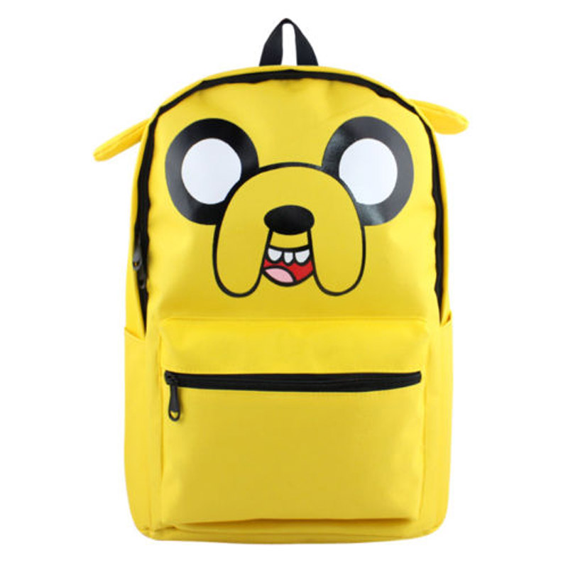 Yellow Adventure Time with Ear Backpack Bag Knapsack Packsack School Shoulder Bags Shoulder Bags Boy Girls