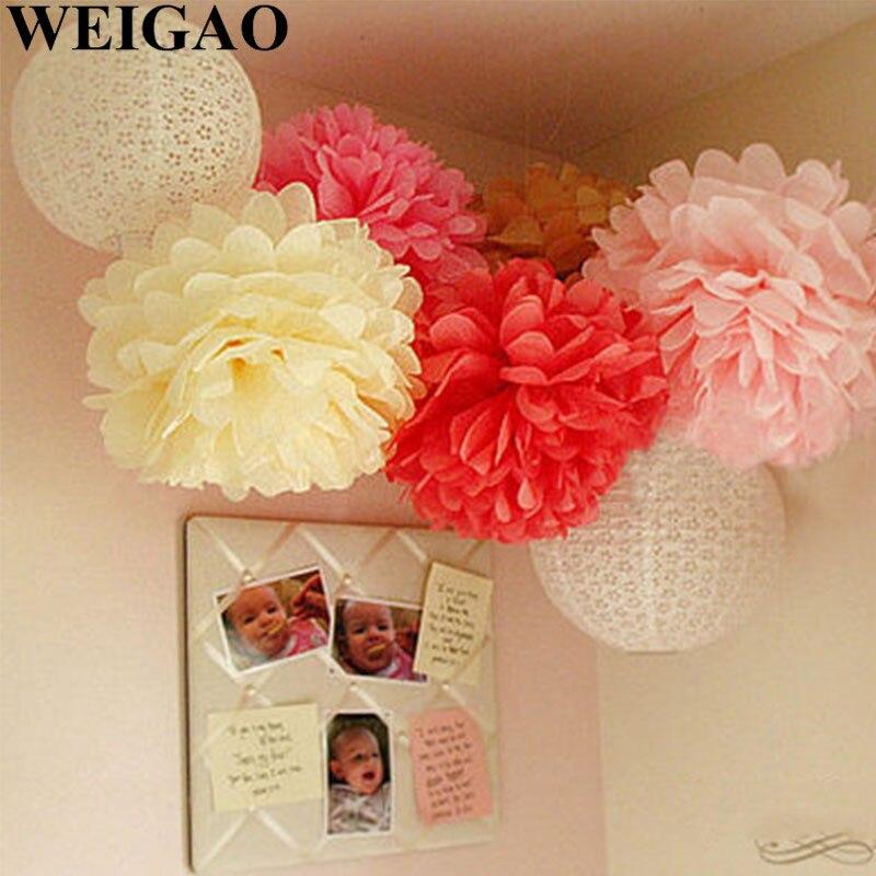 8/'/' sizes 2PCS Wedding decorations tissue paper pompoms party pom poms 0cn