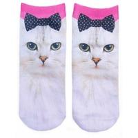 Zebery 3D Printed Animal Casual Socks Cute Cat Low Cut Ankle Socks Men&Women Short Socks Funny Kawaii Colorful Ankle Socks P0.45
