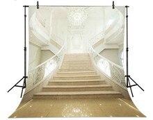 Europeu Palácio Escadas Luzes fotografia Vinil pano de fundo pano de Alta qualidade Computador impresso contexto da fotografia de casamento backdrops palácio