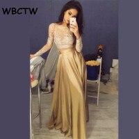 WBCTW Satin Ruffle Long Skirt 2019 Gold High Waist Skirt Elegant Party Women Skirt Solid XXS 10XL Plus Size Maxi Skirts