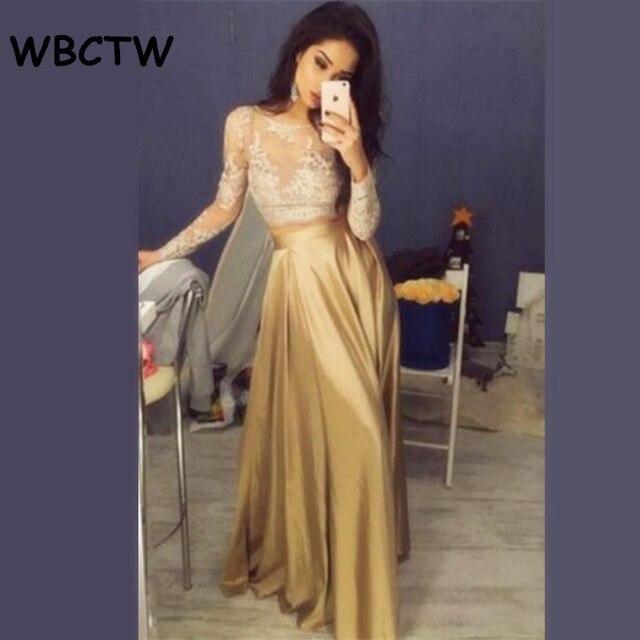 Wbctw Лето атласными рюшами длинная юбка 2018 черный Высокая талия юбка элегантные вечерние Для женщин, xxs-10xl плюс Размеры Макси Юбки для женщин