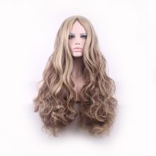 Lolita long curly blonde hair wig