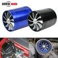 Doble Turbo de Admisión de Aire Gas Fuel Saver Fan Turbo Supercharger Universal Turbo de Admisión de Aire