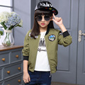 4 5 6 7 8 9 10 11 12 13 Years Spring Jacket For Girls Teenagers Windbreaker Children Casual Coat Long Sleeve Outwear Kid Clothes