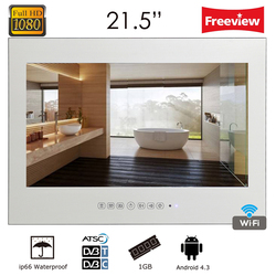 Souria 21.5inch Full HD 1080P Android Smart Vanishing Glass Mirror Waterproof TV with LAN and Intergrated Wi-Fi