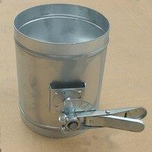 Лист оцинкованного железа заслонка воздуховода ручной воздушный клапан регулировки громкости бабочка клапаны для спиральный канал 100 мм 150 мм 200 мм