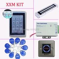 Комплект контроля доступа, EM ID карты автономный один двери Система контроля доступа + источника питания + магнитный замок + кнопка выхода + кл
