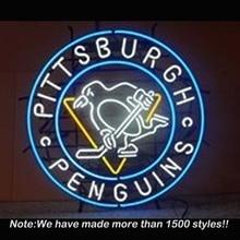 Leuchtreklame Pittsburgh Penguins Handcrafted Neonlicht-zeichen Neonröhren Universität Display Glasrohr Metall vd Werbung 24×24
