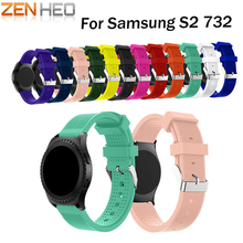 ZENHEO Silicone Watchband 20mm Fashion Sports Bracelet Strap Band For Samsung Gear S2 Classic 732 Replacement Wristband