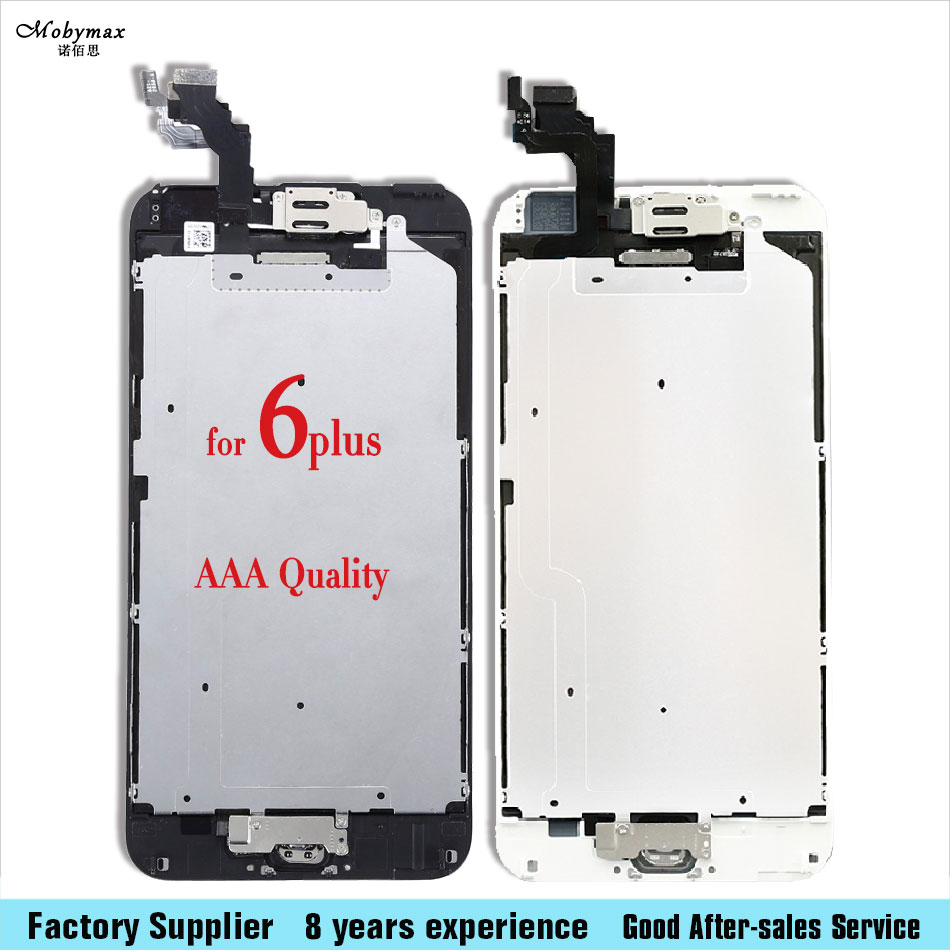 Full Assembly Ecran Pantalla For iPhone 6 plus Touch Screen Digitizer Display+Home Button+Front Camera A1522 A1524 A1593