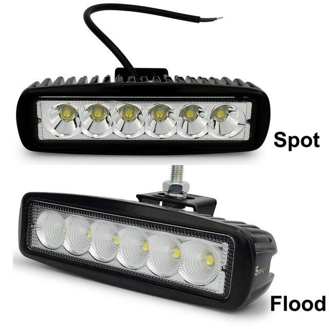 2 cái Safego ánh sáng xe thanh 18 Wát làm việc ánh sáng 24 V Xe Máy Lái Xe Off road Tractor đèn xe tải đèn 12 V led công việc nhẹ