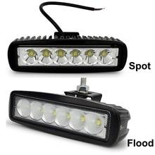 2 stks Safego auto lichtbalk 18 W werklamp 24 V Motorfiets Rijden Off road Tractor truck lichten lamp 12 V led