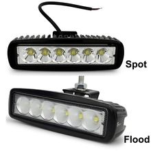 2pcs Safego car light bar 18W working light 24V Motorcycle Driving Off road Tractor truck lights