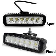 2pcs Safego car light bar 18W working light 24V Motorcycle Driving Off-road Tractor truck lights lamp 12V led work light
