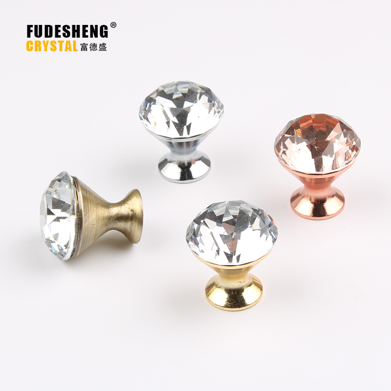 Multiple sizes 10pcs/lot 20-30mm Clear Diamond Shape Crystal Glass Pull Handle Cupboard Cabinet Drawer Door Furniture Knob css clear crystal glass cabinet drawer door knobs handles 30mm