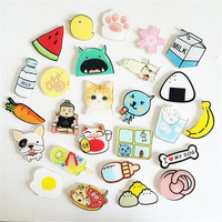 1 PCS Cute cartoon dog acrylic strawberry watermelon fruit badge children pin brooch Backpack Decoration Badges