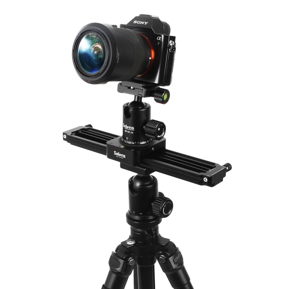 Selens 28cm/11inches Video Slider with Autopan Multifunction 3 in 1 Parallax Panoramic Sweeping for Film Making Interviews-in Photo Studio Accessories from Consumer Electronics    1