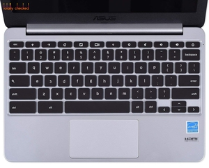 Keyboard Cover Silicone Skin for Asus Chromebook 13 C300 C300MA C300SA / ASUS C202SA C200 C213SA C223 C200MA C201PA 11.6 inch(China)