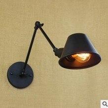 40 Вт Стиле Лофт Черный Старинные Стены Лампа Рука Внутреннего Освещения, Industiral Бра Lamparas Де Сравнению