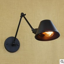 IWHD Loft Style Vintage Wall Lamp Arm Home Indoor Lighting Industiral Wall Sconce Edison Lamparas De Pared