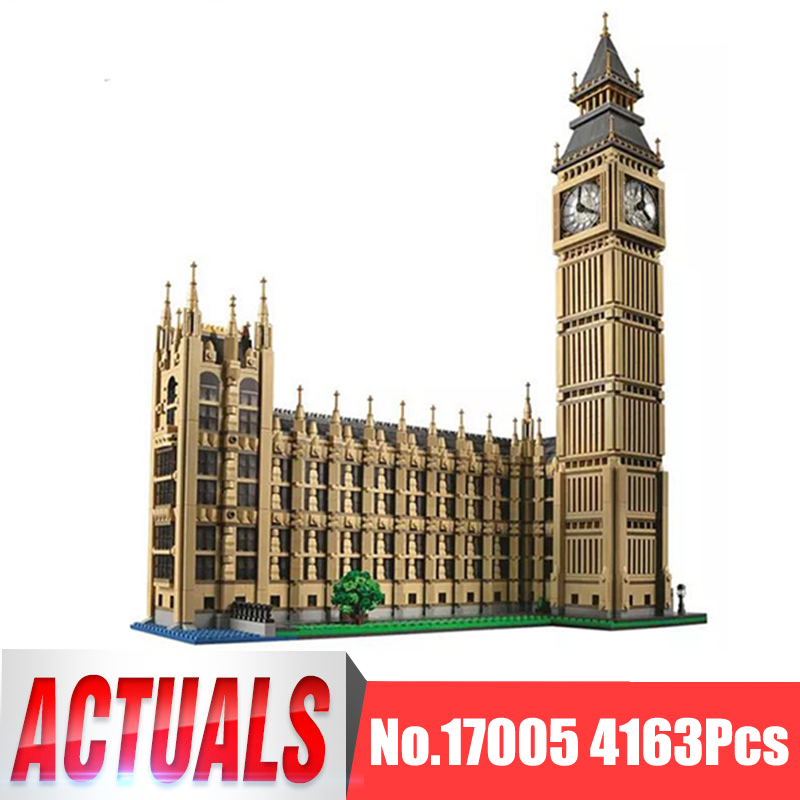 Lepin City Creator Street Figures 17005 4163Pcs Big Ben Model Building Kits Blocks Bricks Educational Toys Compatible With 10253 все цены