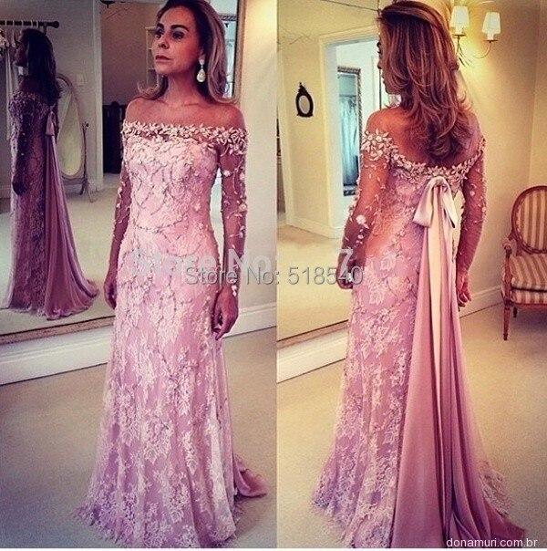Elegant Long Sleeve Wedding Dresses Muslim Dress 2015: 2015 Elegant Boat Neck Long Sleeve Lace Beads Arab Dubai