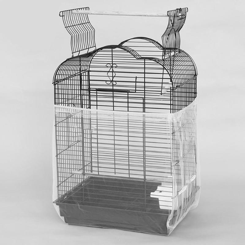 New Unique Soft Nylon Airy Fabric Mesh Bird Cage Cover Shell Skirt Seed Catcher Guard Bird Supplies Easy Cleaning Bird Supplies