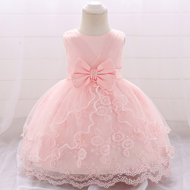 New year baby girl dress 1 year old baby girl costume birthday baby Lace Birthday Princess Party Dress children tutu clothing