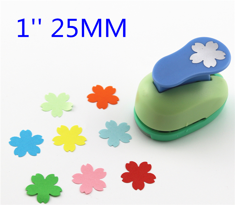 Cherry blossoms 1'' flower paper punch eva foam punch kid diy craft punch scrapbook cutter scrapbooking punches Embosser b558