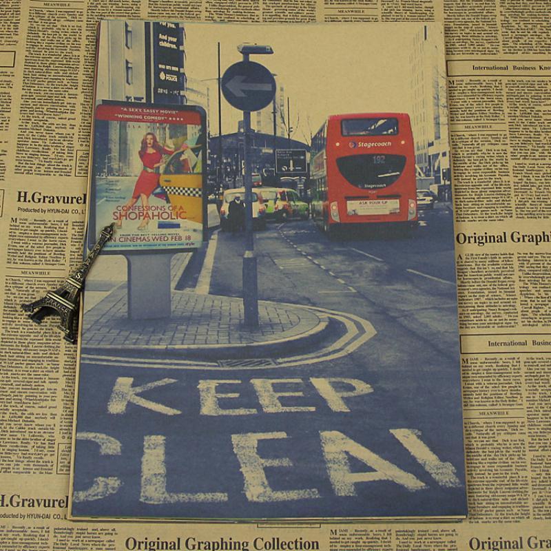 ᗜ LjഃEnvío libre decoración del hogar papel Kraft Calle de Londres ...