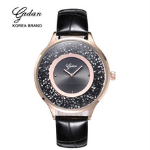 Yadan top brand luxury silver dress women's rhinestone watch ceramic crystal quartz women's magic watch women's watches