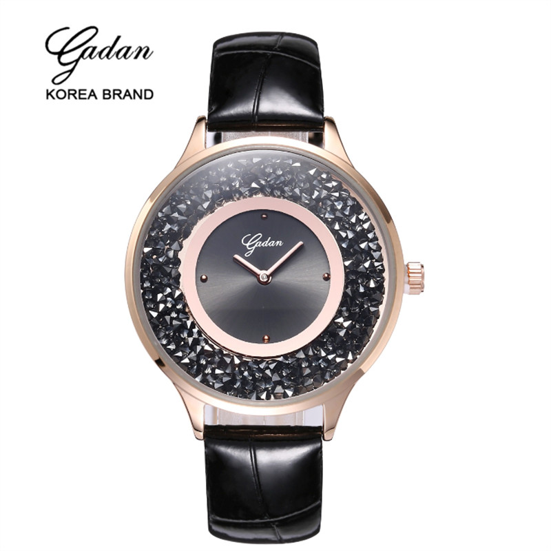 Yadan top brand luxury silver dress women s rhinestone watch ceramic crystal quartz women s magic