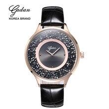 Yadan top marque de luxe argent robe de femmes strass montre en céramique cristal magique de quartz femmes montre montres de femmes